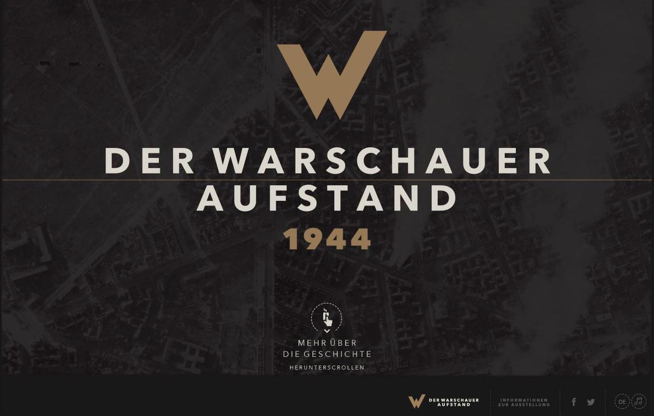 """Webseite """"Der Warschauer Aufstand 1944″"""